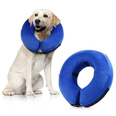 petnlife保護用インフレータブルペット襟、犬リカバリCollar for Surgeryソフト調節可能な快適なペットe-collar for Dogs and Cats L ブルー 43235...
