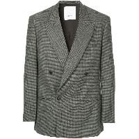Ports V houndstooth suit - グレー