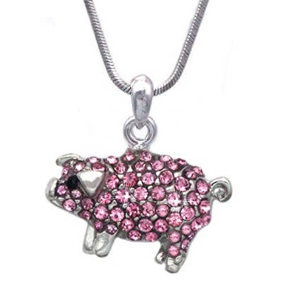 cocojewelry Baby Pig Small Pigファーム動物ペンダントネックレス