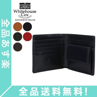 [全品送料無料]Whitehouse Cox ホワイトハウスコックス Wallet Coin Purse CLOSE 10cm × 11cm OPEN 10cm × 22.5cm S7532 財布