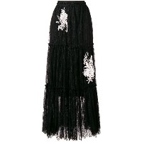 Twin-Set lace maxi skirt - ブラック