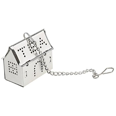 a-szcxtop House Tea Infuser–ステンレススチール–Single Cup–Perfect Strainer for Loose Leaf Tea N-31344