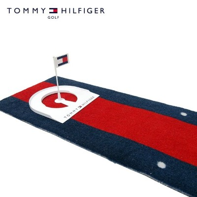 TOMMY HILFIGER GOLF(トミーヒルフィガー ゴルフ) パターマット [ユニセックス] THMG8FM5【NVY(30)/F】PUTTER MAT 練習用 カップ付き ギフト 室内用...