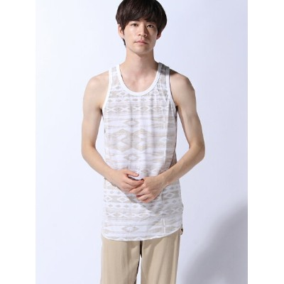 【SALE/30%OFF】ZIP FIVE (M)ZIP FIVE 裏プリントロングタンクトップ(3) ジップファイブ カットソー【RBA_S】【RBA_E】