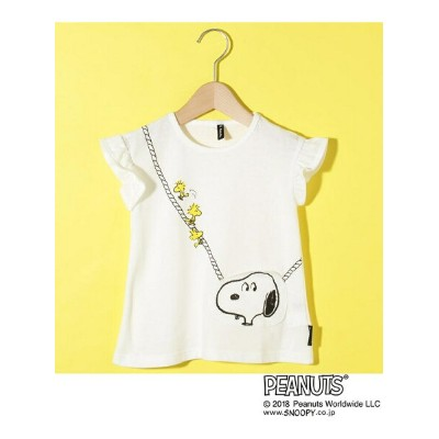 【SALE/50%OFF】3can4on(Kids) SNOOPY コラボ ポケットTシャツ サンカンシオン カットソー【RBA_S】【RBA_E】