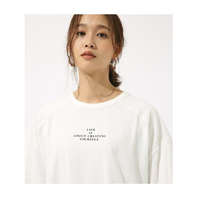 AZUL by moussy LIFE IS ルーズ TEE アズールバイマウジー カットソー