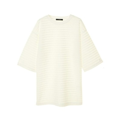 Green Parks SELECT w closet シアーボーダーチュニック グリーンパークス カットソー【送料無料】