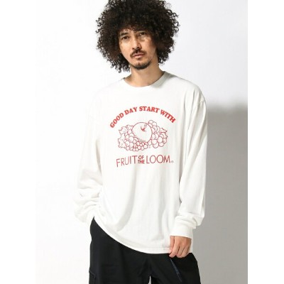 BEAMS MEN FRUIT OF THE LOOM / Print Long Sleeve T-shirt ビームス メン カットソー【送料無料】