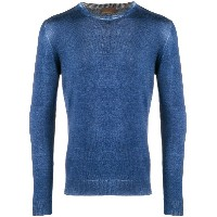 Altea washed-effect fitted sweater - ブルー