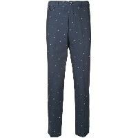 Education From Youngmachines stars embroidered trousers - ブルー