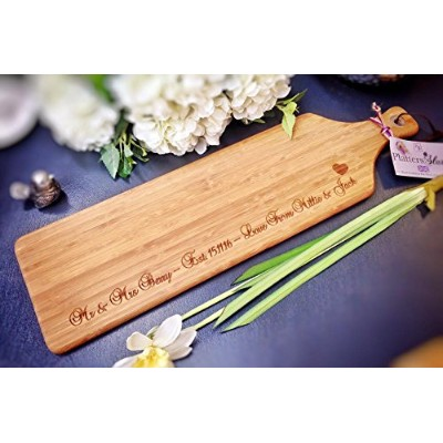 Personalised Large Wooden Servingボード、Platter、Cheeseboard、パドル–Engraved with anyメッセージ–The Perfect...