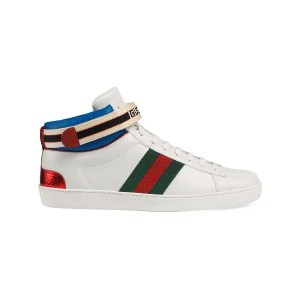 Gucci Gucci stripe Ace high-top sneakers - ホワイト