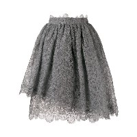 Ermanno Scervino scalloped lace pattern skirt - グレー