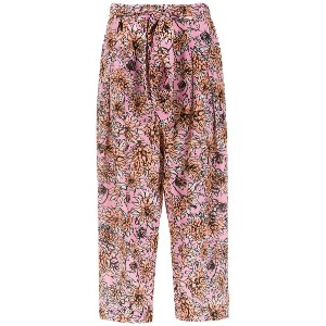 Andrea Marques silk cropped trousers - ピンク