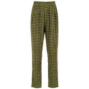 Andrea Marques printed straight trousers - グリーン