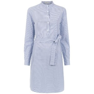 Egrey striped shirt dress - ホワイト