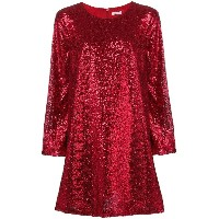 P.A.R.O.S.H. sequined mini dress - レッド