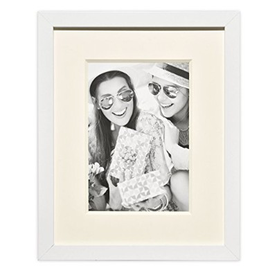 (8x10-Table Top, White) - Golden State Art Wall Photo Frame Collection, Photo Frame with Ivory...