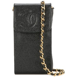 Chanel Pre-Owned チェーン フォンケース - ブラック