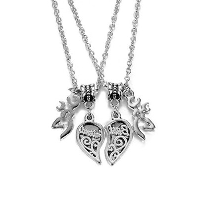 Maylove 2pcs Best Friendsネックレスfor 2 Broken HeartペンダントBFFジュエリーギフトfor Teen Girls