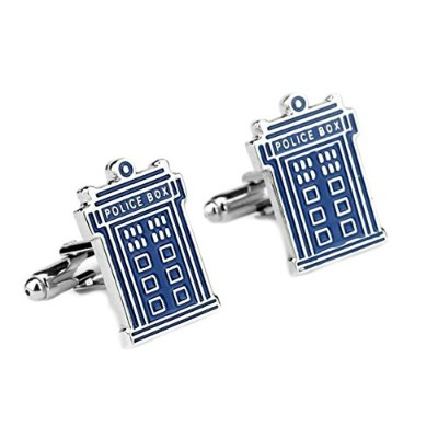 Outlander Gear Doctor Who Tardis SFテレビシリーズスーパーヒーロー2018 Wedding Groom Groomsmen Mens Boys Cufflinks
