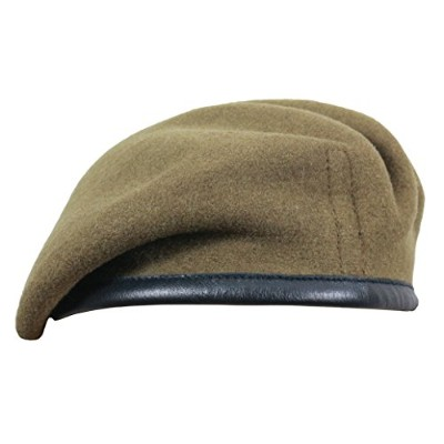 (58 cm, Khaki (Honorable Artillery)) - High Quality Military Berets - British Made - 100% Wool in...