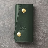 SALE【バイヤーズコレクション(BUYER'S COLLECTION)】 【IL BISONTE】【ユニセックス】キーケース 【IL BISONTE】【ユニセックス】キーケース カーキ