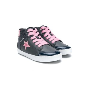 Geox Kids star lace up sneakers - グレー