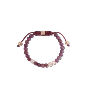 Shamballa Jewels 18kt rose gold, diamond, ruby & pearl Non-Braided