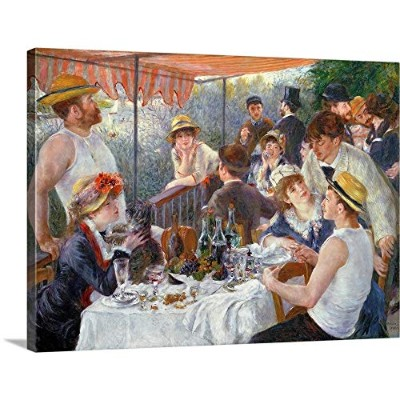 "Pierre Auguste Renoirプレミアムシックラップキャンバス壁アート印刷題名The Luncheon of the Boating Party , 1881 24"" x 18""..."
