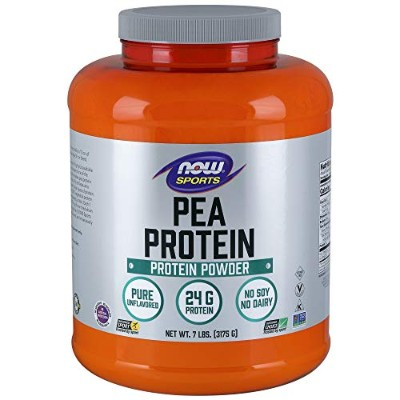 [海外直送品] ナウフーズ  Sports Pea Protein Natural Unflavored 7 lbs (3175 g)