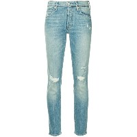 Mother slim-fit distressed jeans - ブルー
