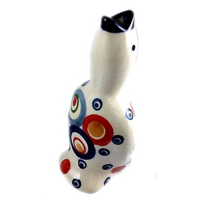 (OH) - Collectible Baking Essential: Polish Pottery Pie Bird Vent Whistle Funnel Chimney - For...