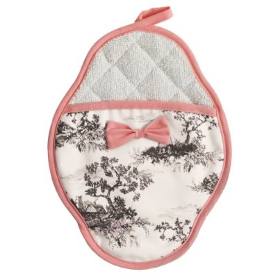 Jessie Steele Harvest Toile Scalloped pot-mitt