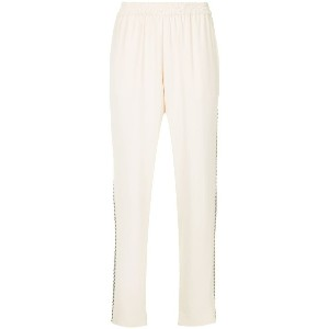 Layeur high waist tapered trousers - ヌード&ナチュラル