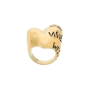 Vivienne Westwood chunky logo ring - メタリック