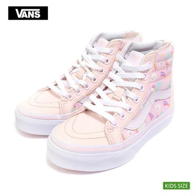 VANS KIDS FA'18バンズ キッズ【VN0A3276U07】SK8-HI ZIP(Glitter Pegasus) Heavenly Pink/True Whiteスケートハイジップ...