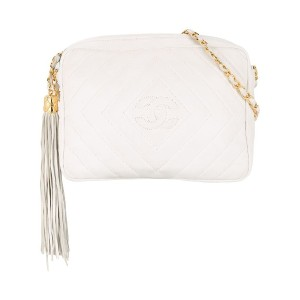Chanel Vintage CHANEL Fringe Chain Shoulder Bag - ホワイト