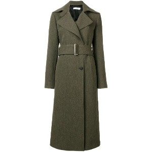 Victoria Beckham fitted trench coat - グリーン