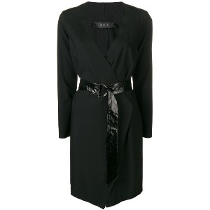Federica Tosi wrap belted dress - ブラック