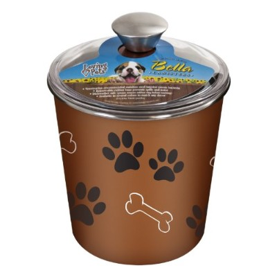 Loving Pets Bella Dog Bowl Canister/Treat Container, Copper by Loving Pets
