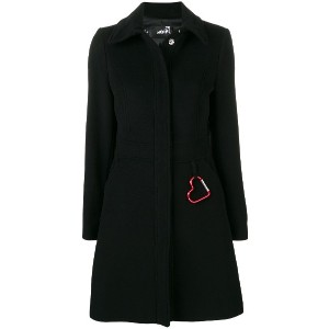 Love Moschino perfectly fitted coat - ブラック