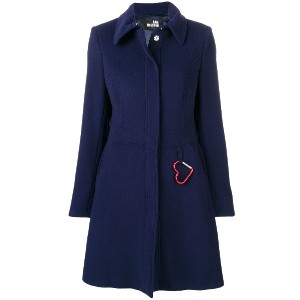 Love Moschino perfectly fitted coat - ブルー