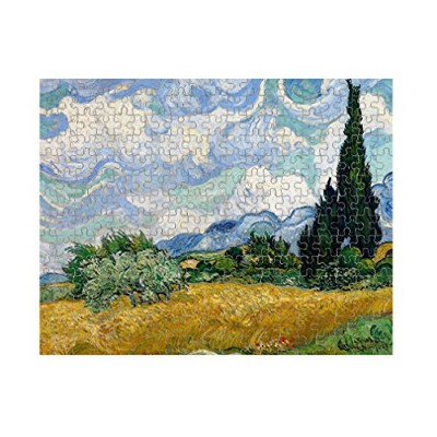 Wheat Field with Cypressesゴッホジグソーパズル印刷 252 Pieces PUZLVANG066_HR_252P