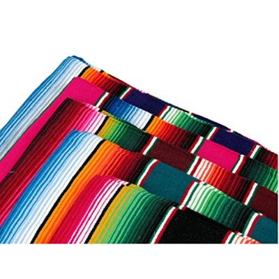 (X-Large 210cm x 150cm, Assorted) - Mexican Serape Blanket (X-Large 210cm x 150cm, Assorted)
