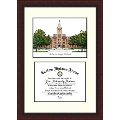 Campusimages OH987LV Ohio State University Legacy Scholar Diploma Frame