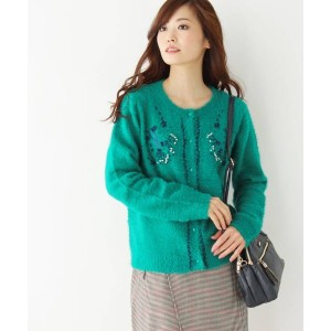【grove(グローブ)】 style zampa for the holidays刺繍カーディガン OUTLET > トップス > カーディガン グリーン