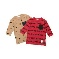 【3can4on(Kids)(サンカンシオン(キッズ))】 【WEB限定】デニムポケット付総柄2枚セットTシャツ OUTLET > トップス > Tシャツ その他