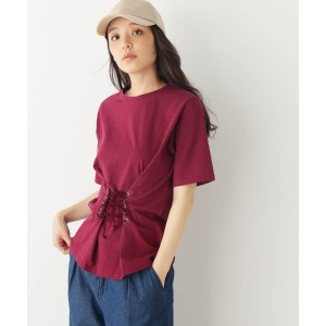 【grove(グローブ)】 コルセットウエストTシャツ OUTLET > トップス > カットソー ボルドー