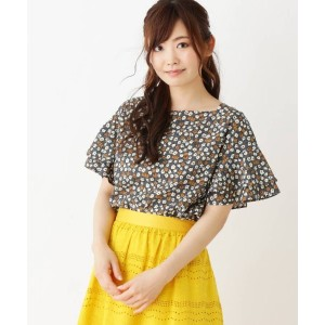 【SOUP(スープ)】 【WEB限定サイズ有り】小花プリントブラウス OUTLET > トップス > シャツ・ブラウス カーキ